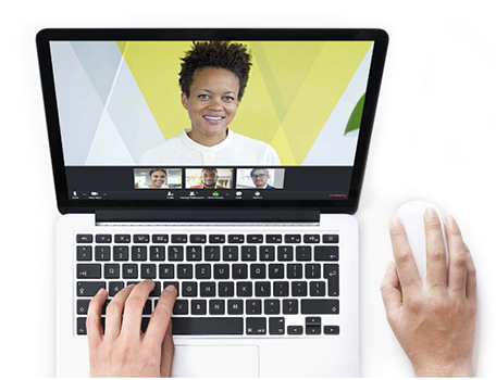 Online video meetings are a click away